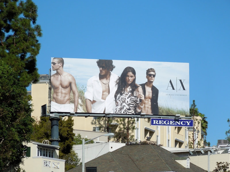 Armani Exchange Spring 2013 billboard