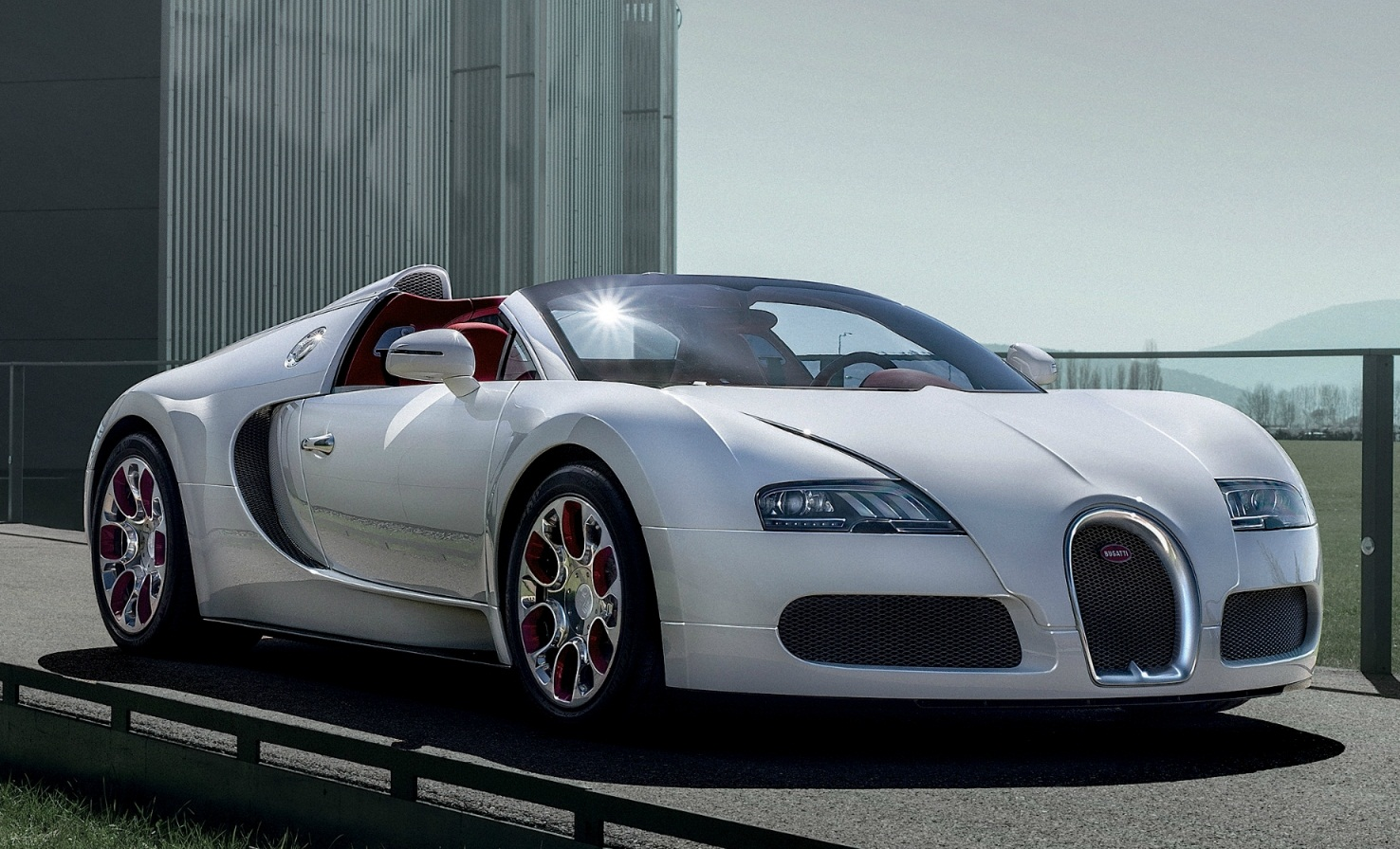 sport car garage bugatti veyron grand sport wei long 2012. Black Bedroom Furniture Sets. Home Design Ideas