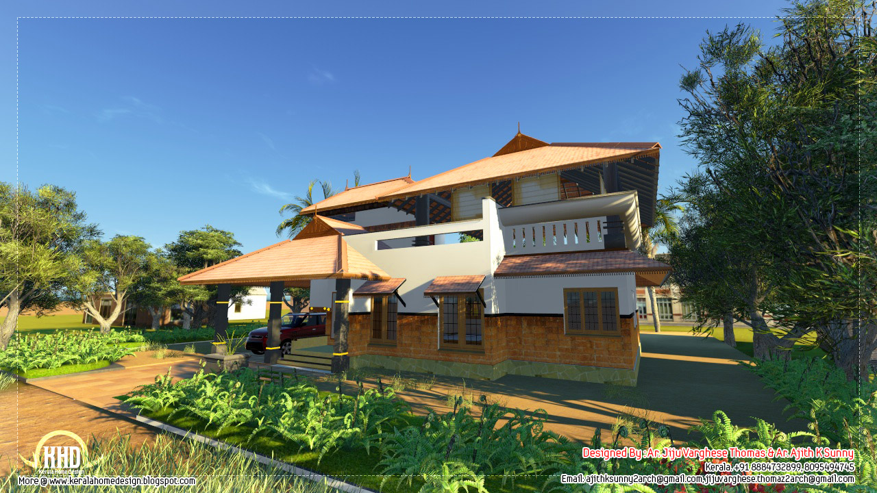 Kerala home design and floor plans nano home plan and for Kerala traditional home