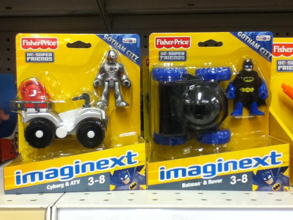 IMAGINEXT DC SUPER FRIENDS GOTHAM CITY CYBORG /& ATV TOYS R US EXCLUSIVE