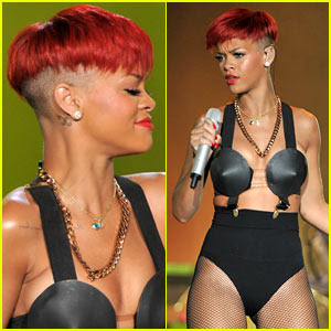 rihanna red hair hot