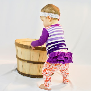 ruffle butt baby leggings and baby shirt pattern