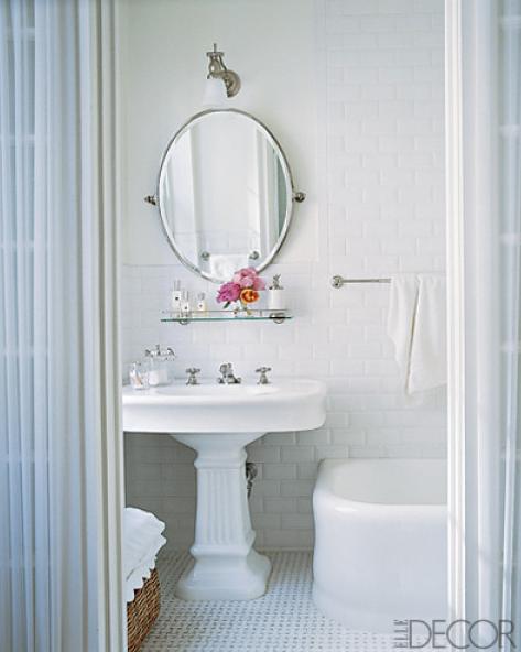 Bathroom Mirrors Over Pedestal Sinks