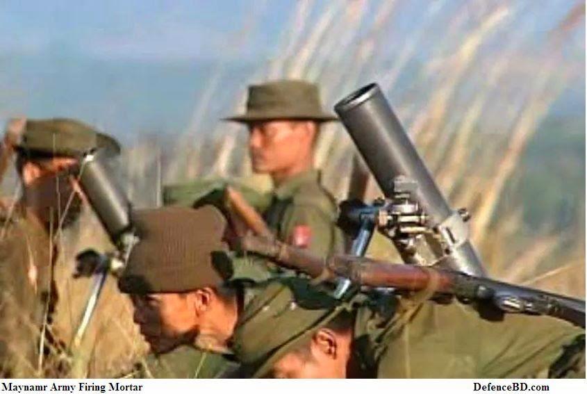 Myanmar Mortar Fire