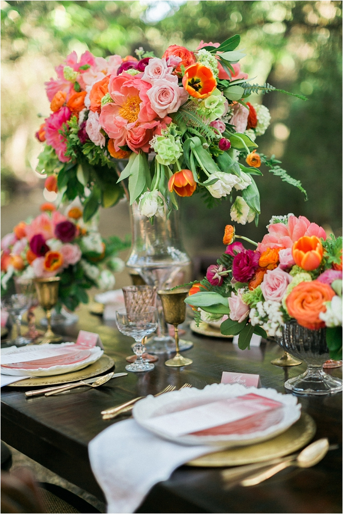Colorful spring wedding ideas le magnifique