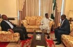 Saraki And Dogara Visits President Buhari In London For The Second Time