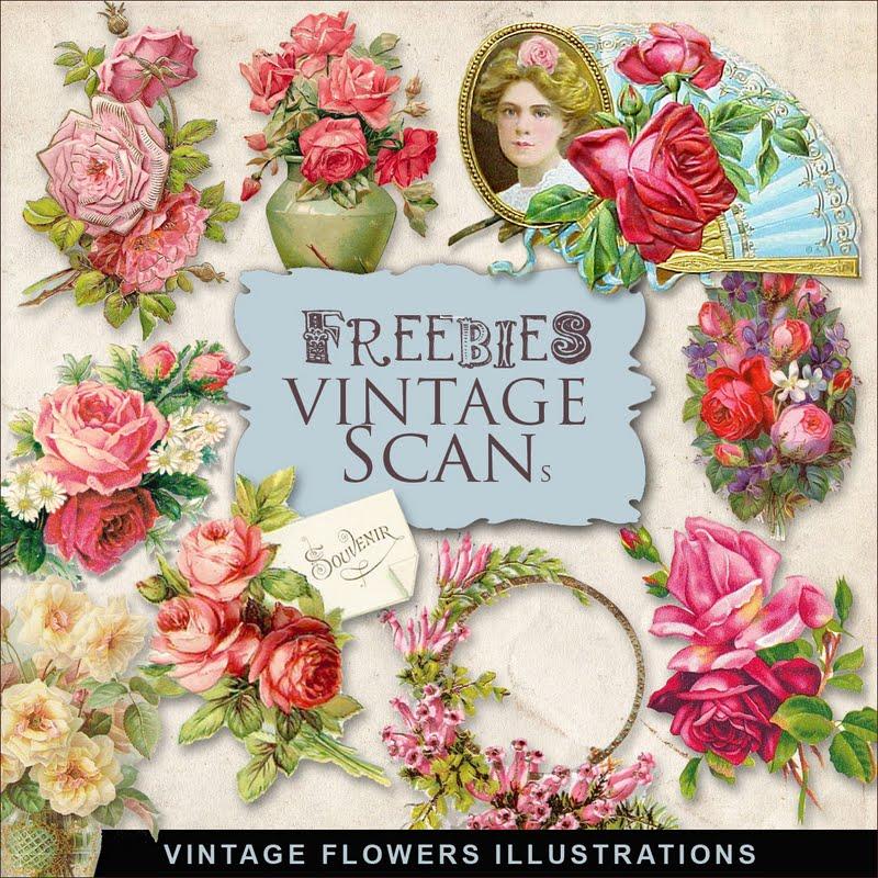 Freebies Vintage Flowers Vignettes Kit:Far Far Hill