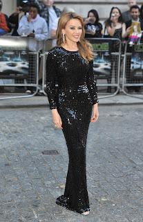 Kylie Minogue floor length dress