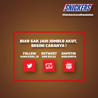 Info kuis - Kuis #SnickersLoveResolution Berhadiah Voucher MAP 2 juta