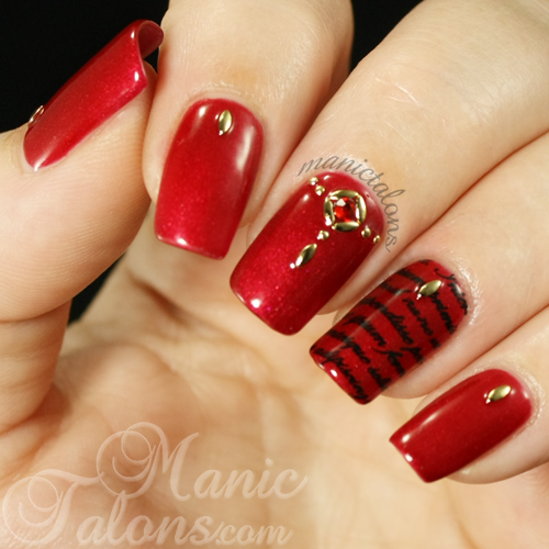 IBD Scarlett Obsession, Messy Mansion, Crystal Manicure