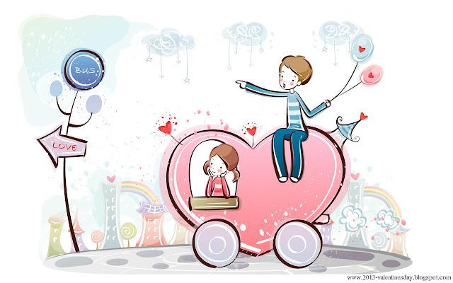 Being Valentine Valentines Day Special Cartoon Couple Love Hd