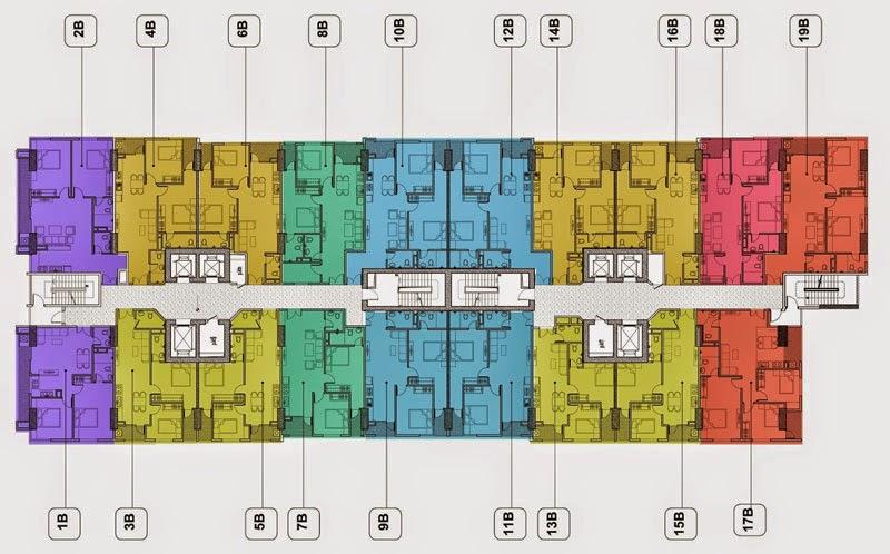 Thiết kế mặt sàn tòa b chung cư Gemek Tower