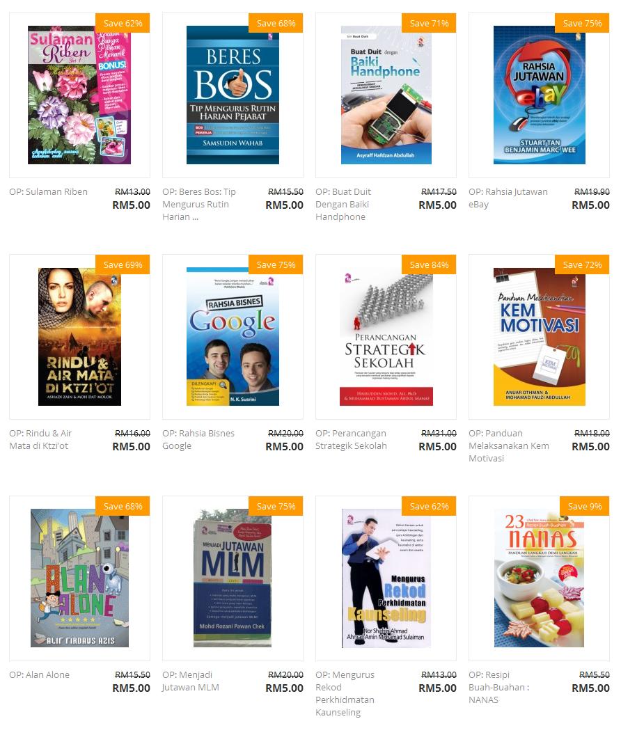 Judul Buku Promosi 1 Buku RM5.00