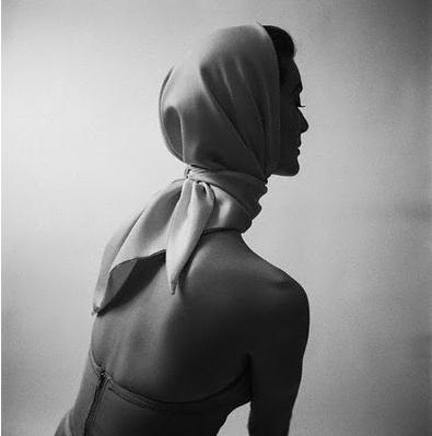 Elegant vintage head scarf