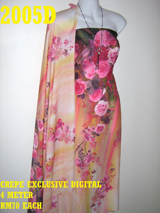 CP 2005D: CREPE EXCLUSIVE DIGITAL PRINTED, 4 METER