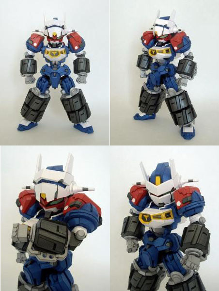 Gear Fighter Dendoh Robot Papercraft