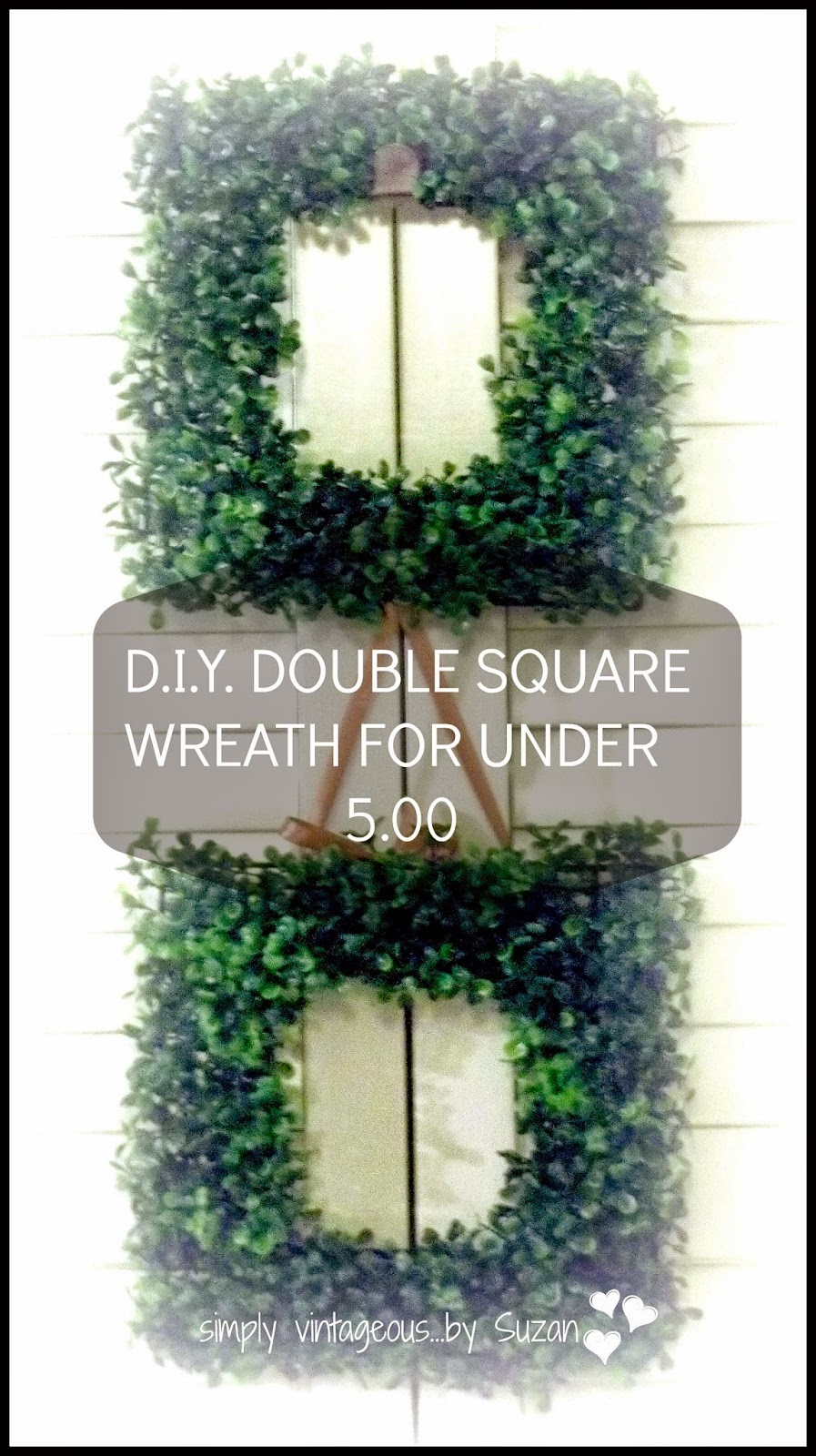 Dollar store, DIY square wreath, Garden