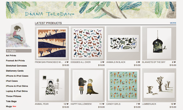 Diana Toledano's Illustration Shop: art prints, mugs, tote bags, stationery cards, iPhone cases