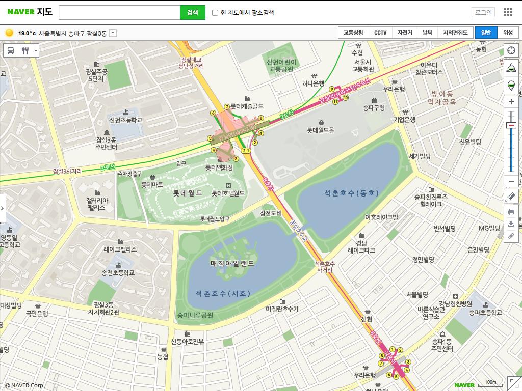10원 Tips paring map sites in Korea Naver Daum Google Bing