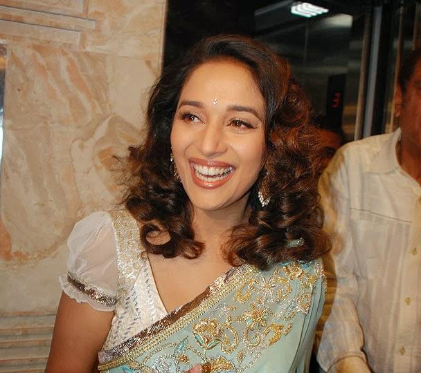 Madhuri Dixit hottest blouse unseen big milky cleavge pics