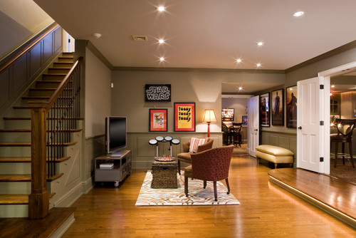 traditional basement