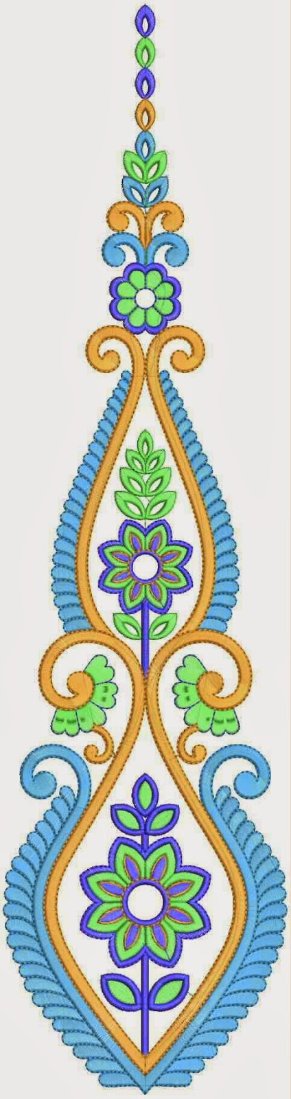 kulturele blomme borduurwerk quilt patroon