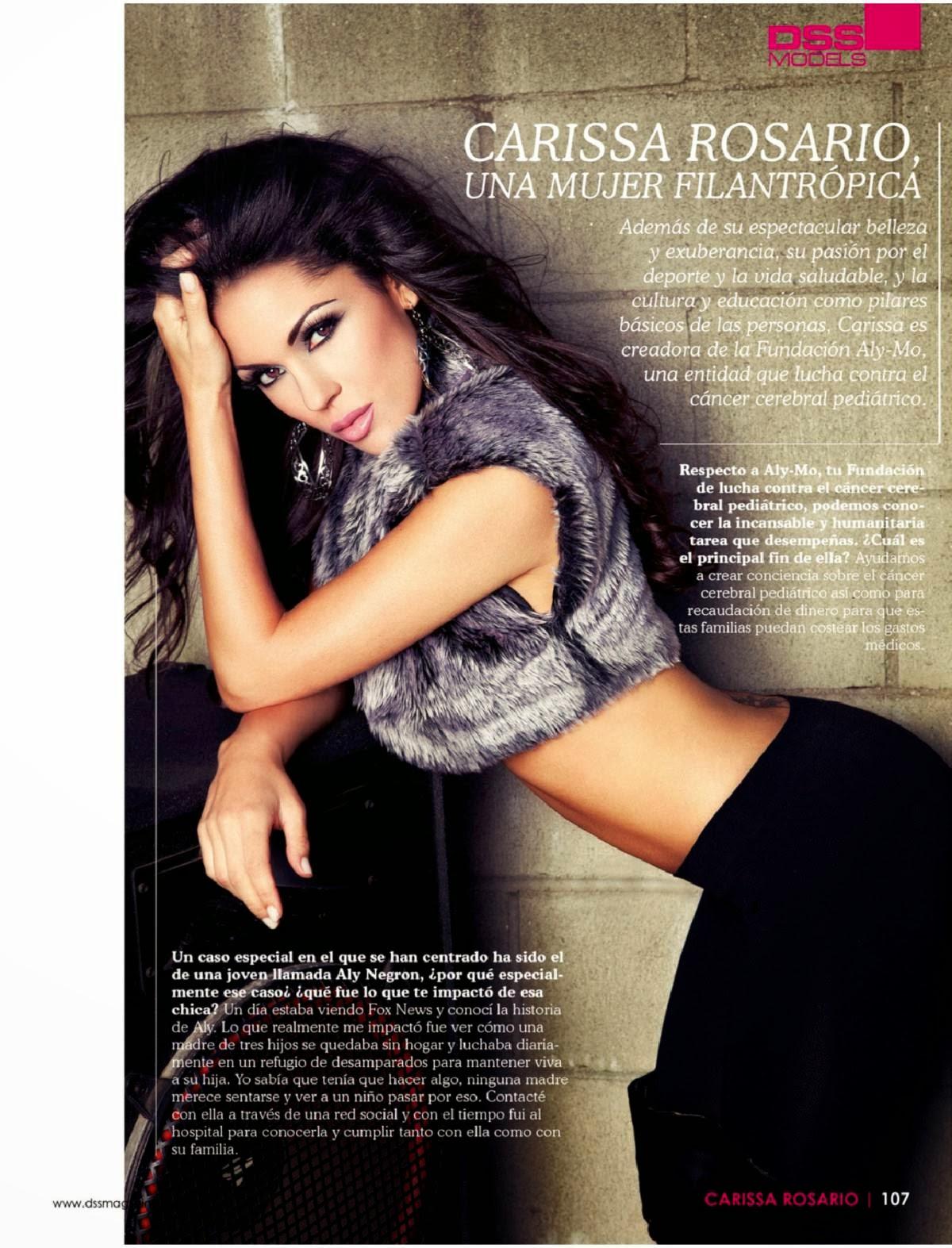 Magazine Photoshoot : Carissa Rosario Magazine Photoshoot for DSS Magazine December 2013