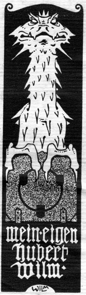 Hubert Wilm - Exlibris von eigener Hand