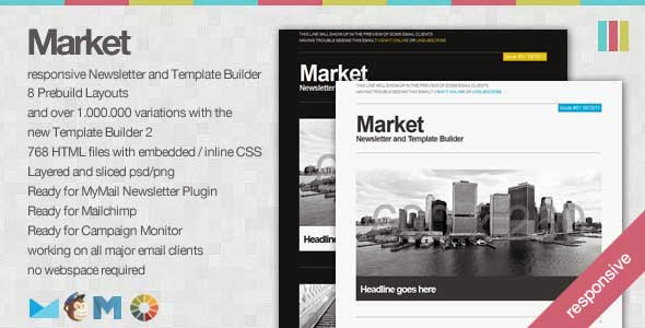 Market – Responsive Newsletter with Template Builder