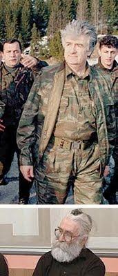 קארדז'יץ' ב-1995 (למעלה), ובינואר השנה