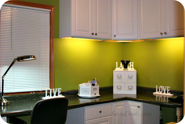craft and scapbooking room countertop