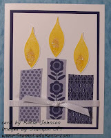 Punch Art Candle Flame Card Made with Stampin'UP!'s Blossom Builder Punch