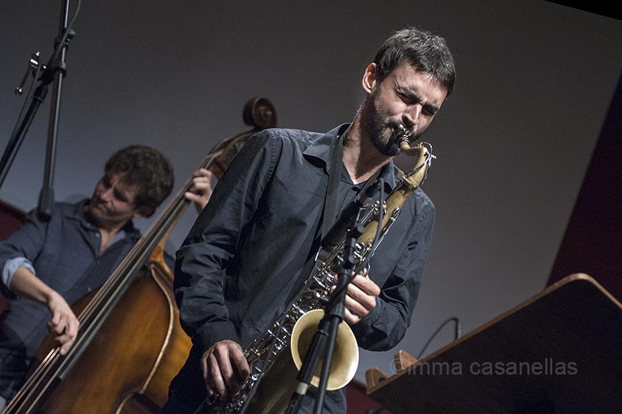 Santi de La Rubia amb Dee Jay Foster (Auditori de Vinseum, Vilafranca del Penedès, 10-10-2015)