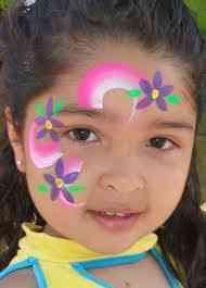 CARITA PINTADA CON FLORES LILAS by pintarcaritas.blogspot.com/