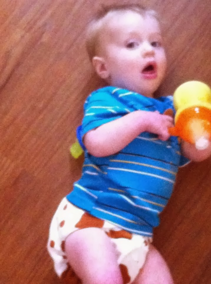 Baby in Diaper Walking Two Babies in Diapers