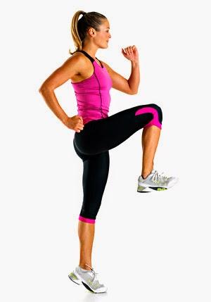 rodillas altas para mejorar los gluteos