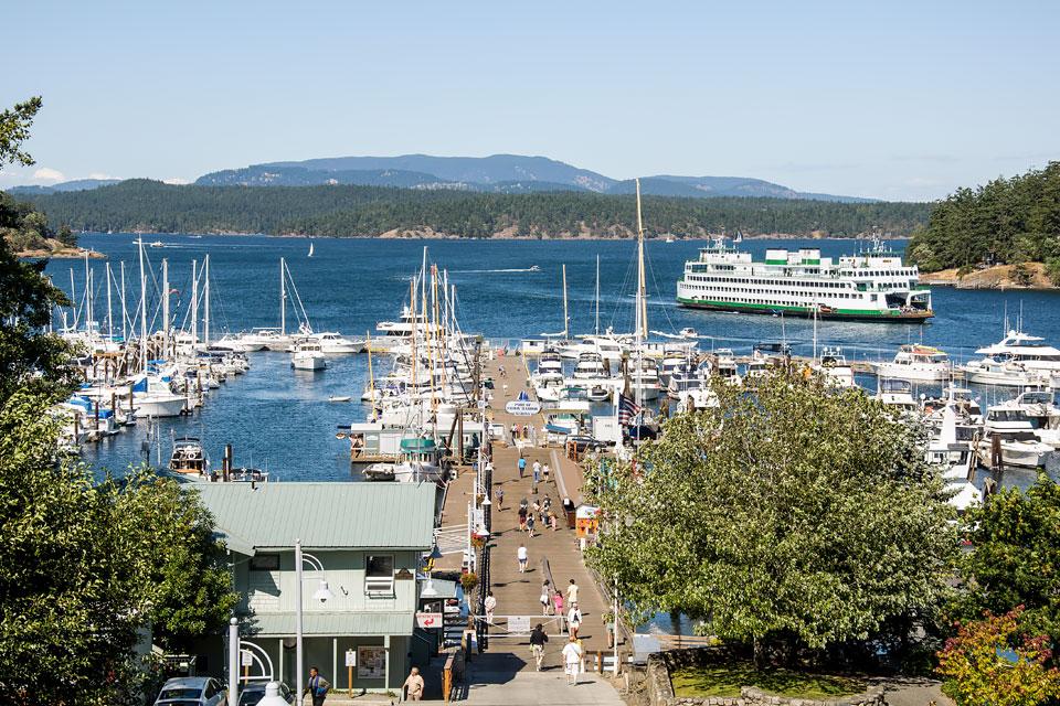 The Port of Friday Harbor Marina.