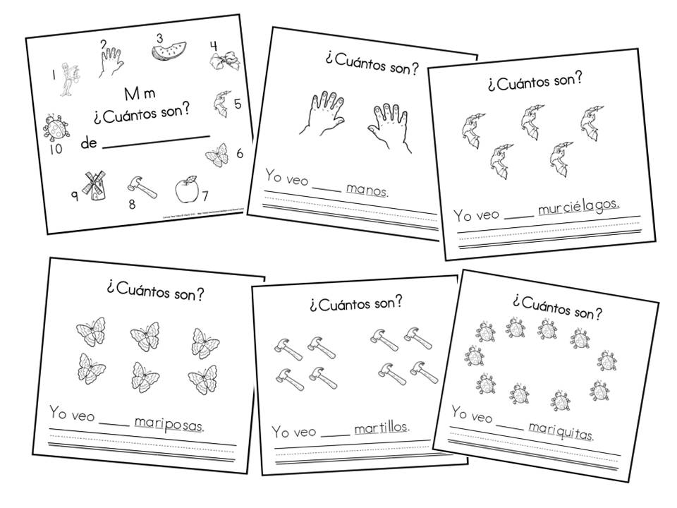 the letter m counting book in spanish printable