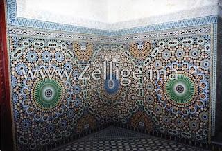 mosaique marocain zellige carrelage carreaux salon marocaine en zellige mosaique traditionnel. Black Bedroom Furniture Sets. Home Design Ideas