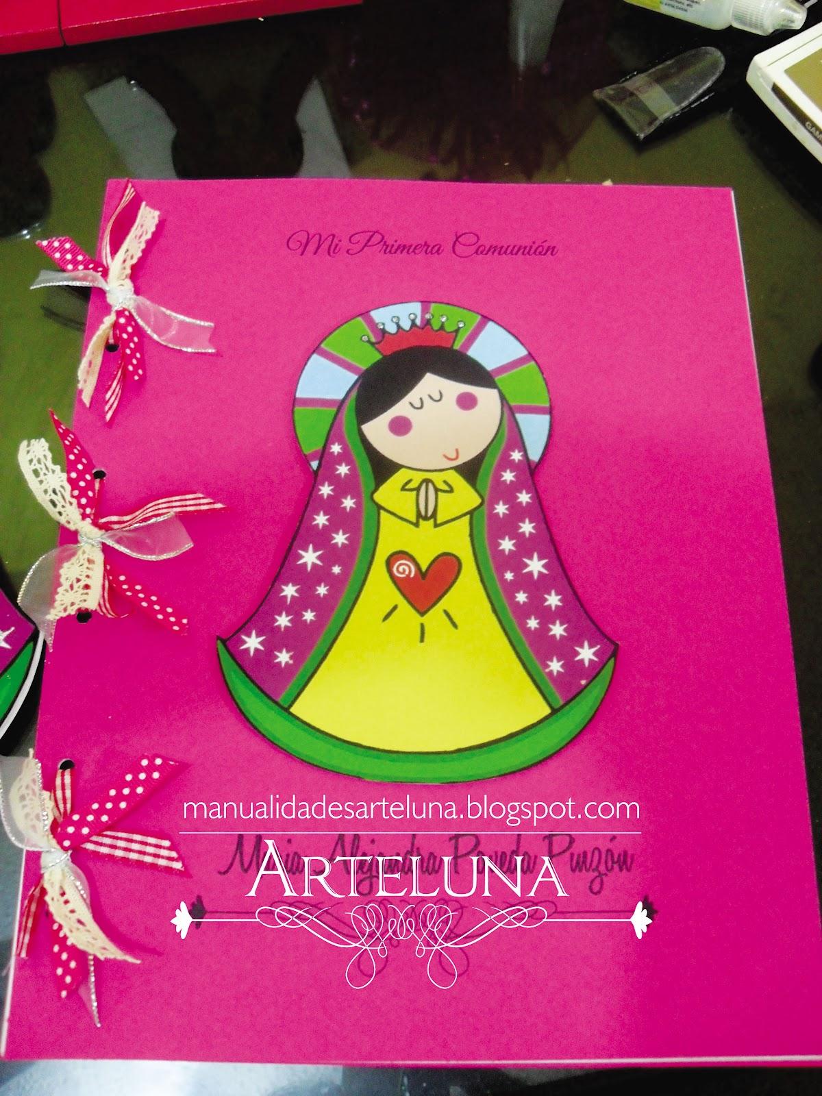 Decoracion Primera Comunion Virgen De Guadalupe ~ ARTE LUNA TARJETAS PRIMERA COMUNION Y DETALLES VIRGENCITA PLISS