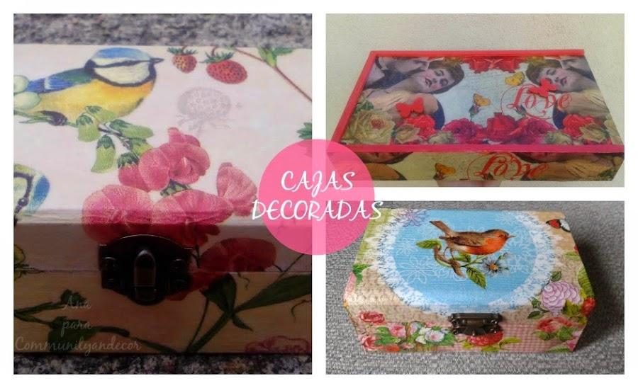 Cajas de madera decoradas manualidades - Manualidades cajas decoradas ...