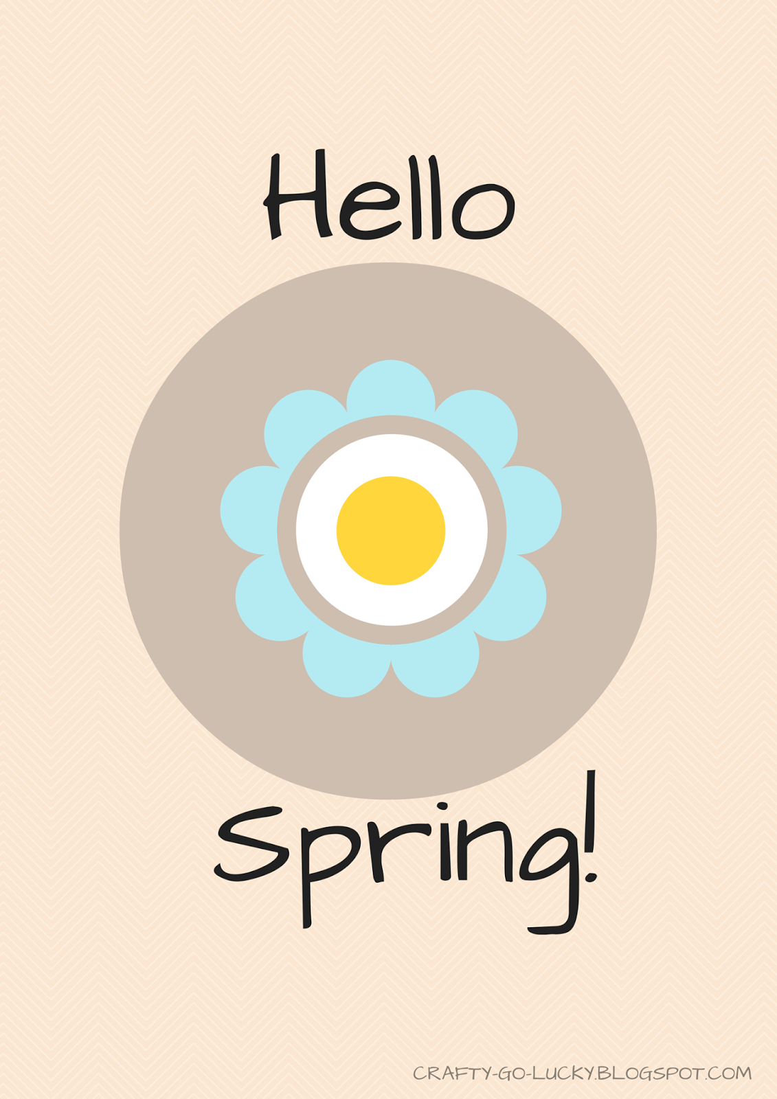 'Hello Spring!' Free Printable