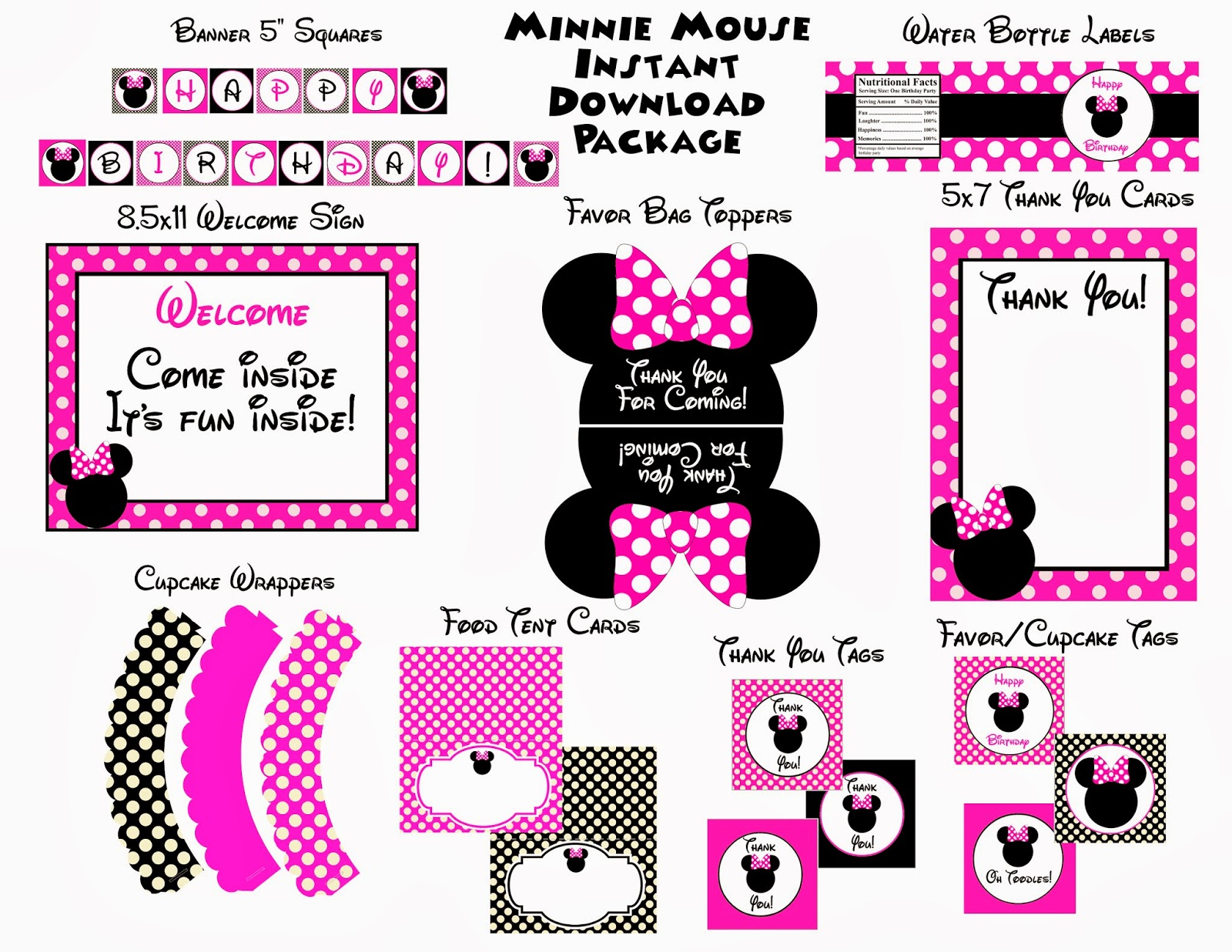 Minnie Mouse Head Invitation Template as great invitations design