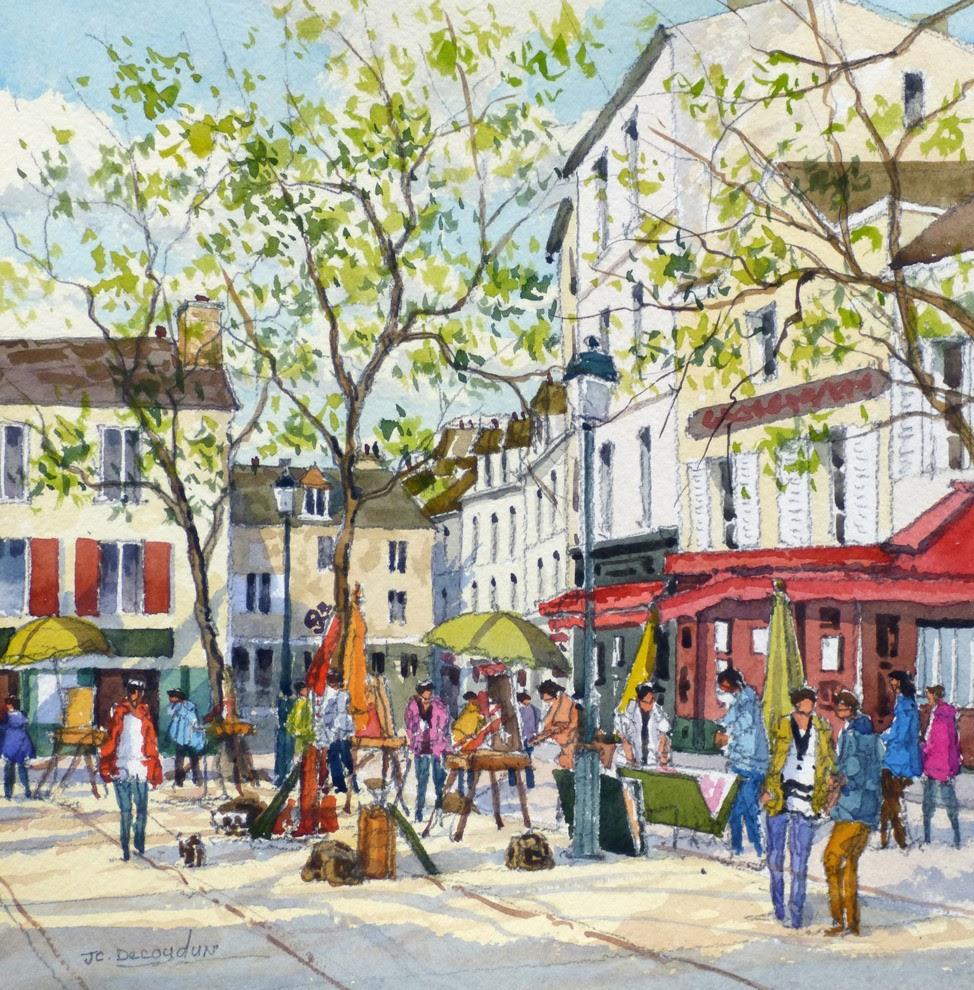 Jean Charles Decoudun Place du tertre Paris
