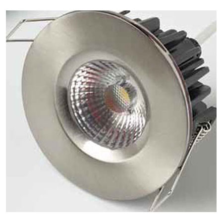 Fixed 10W LED COB Downlight in Brushed Nickel