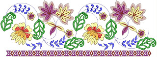 antique look embroidery design for lace work