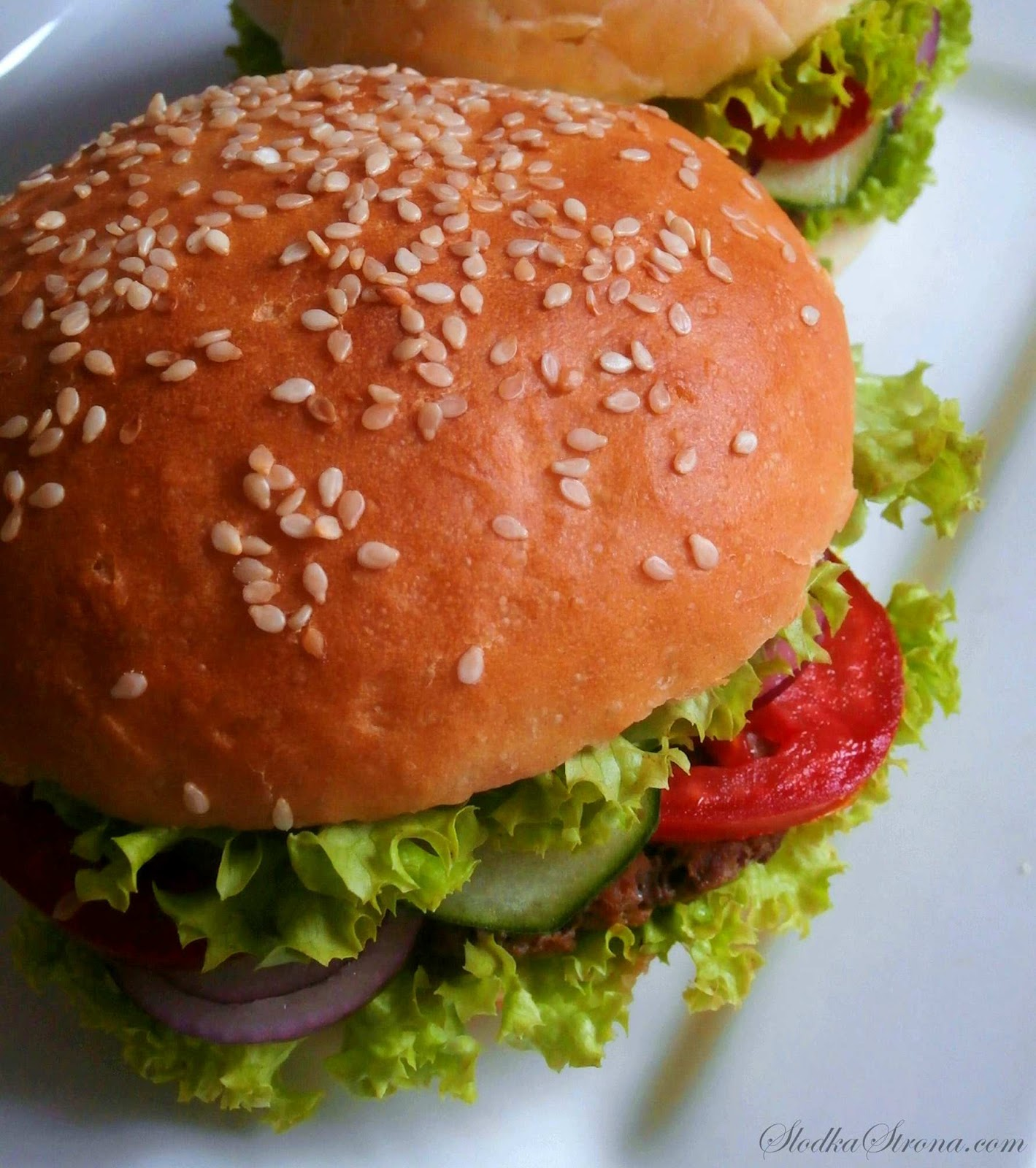 Domowe Hamburgery - Przepis - Słodka Strona
