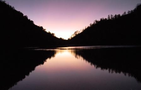 foto ranu kumbolo sunrise