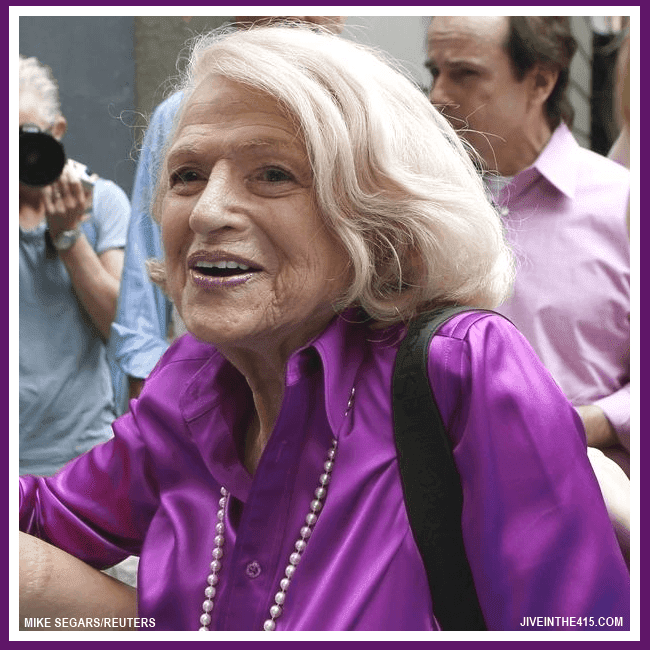 Edith Windsor, the pettioner in the United States v. Windsor challenge to the Defense Of Marriage Act (DOMA), was victorious when the Supreme Court ruled that DOMA discriminates.