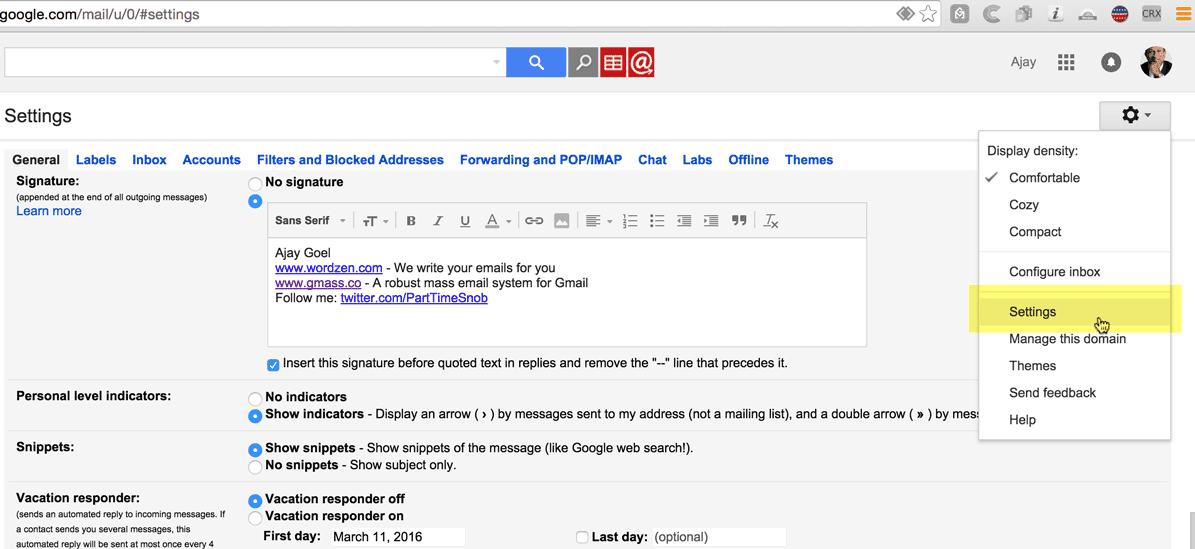 how to find out how old a gmail account is